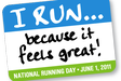 National Running Day is tomorrow, June 1. Get out there and celebrate with a run. Here are just a few free National Running Day events near Washington, D.C.