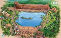 "Gov. Beshear unveiled this artist&squot;s rendition of ""Ark Encounter"" theme park"