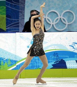 Korea's Yu-Na Kim skates into first place at the Olympic short program  in Vancouver. Photos: United Press International