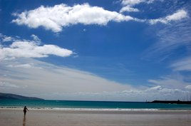 The beach at Apollo Bay. Photo by Phil Hospod.