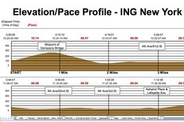 An elevation chart from MyMarathonPace.com