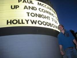 Matt outside Hollywood Bowl