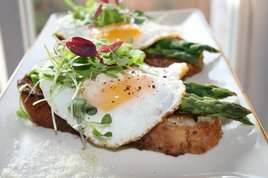 Open Face Egg and Asparagus Panini