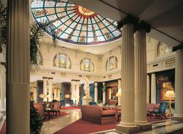 Tiffany domed lobby at the Jefferson Hotel Photo/Courtesy of Property