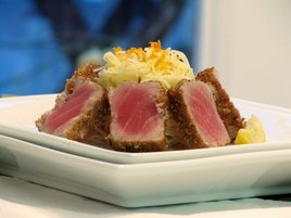 Coriander crusted tuna