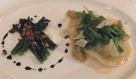 Grilled Asparagus and Artichoke Ravioli Photo/JKubin