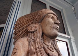 Wooden Indian at Judge Bean's Shop