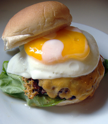 egg on burger