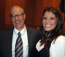 Farmer Joel Salatin (Food Inc.) and Miss WVA Lexi Booth. Booth is using her platform to promote sustainable agriculture.
