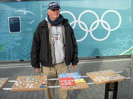 Vendors were out in full force pushing Olympic pins.