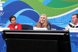 American medalists Apolo Anton Ohno, Lyndsey Vonn and Bill Demong talked Satuday about the success of the team.