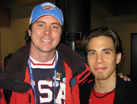 Writer Matt Payne and Olympian Apolo Ohno