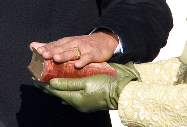 The use of the Bible in a public swearing-in ceremony has excited passions on the left and right. Thoughtful contemplation would be better.