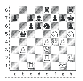 Capablanca-Bernstein after 27...Qb5.