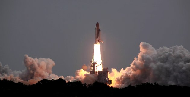 The space shuttle Atlantis lifts off for the last time at the Kennedy Space Center on Friday, July 8, 2011. The mission marks the end of more than 30 years of space shuttle flights for the NASA program. (Andrew S. Geraci/The Washington Times)