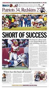 Week 14: Redskins hang with Patriots, but stumble late, fall 34-27