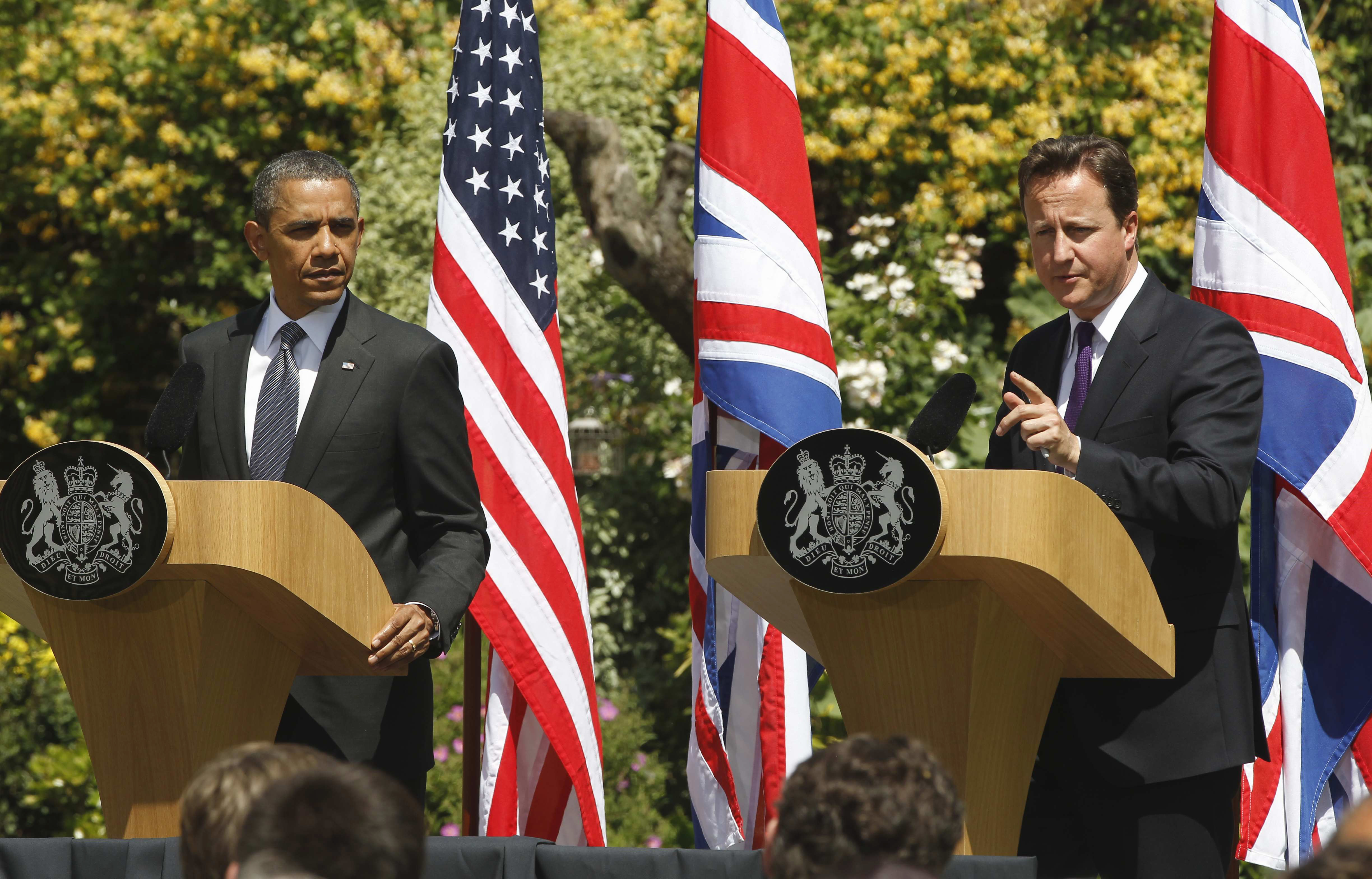 Britain's Cameron urges Obama to leave first lady at home during G-8