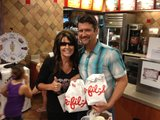 Facebook/Sarah Palin at Chick-fil-A in the Woodlands, Texas with husband Todd Palin.