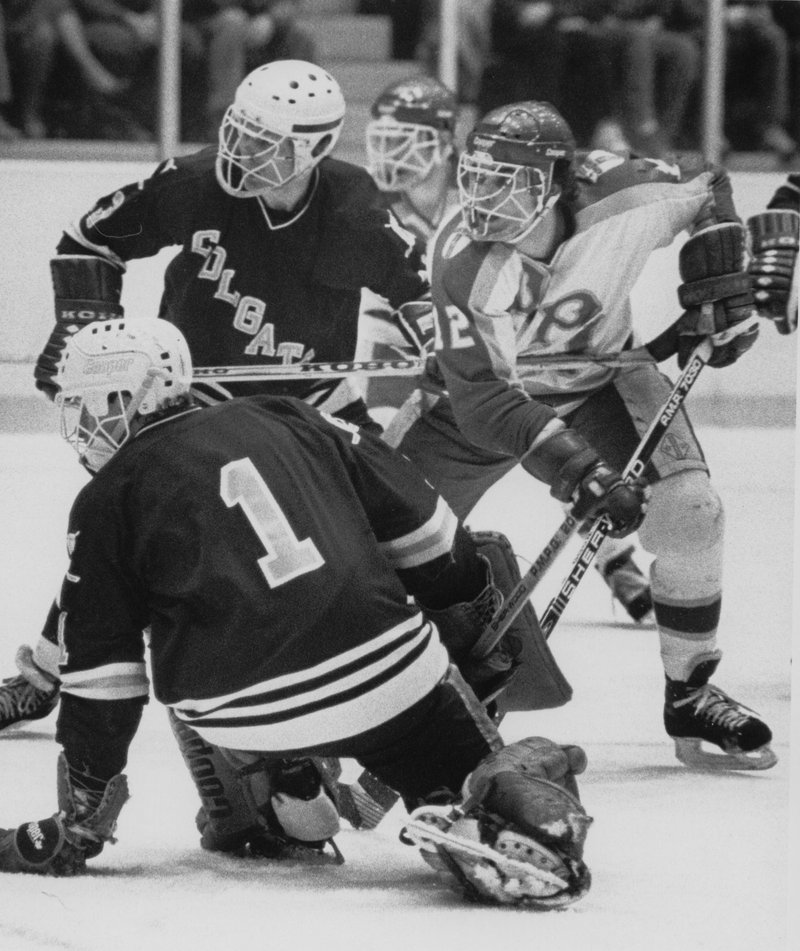 Adam Oates led Rensselaer Polytechnic Institute to an NCAA championship in 1985. (RPI Athletics)