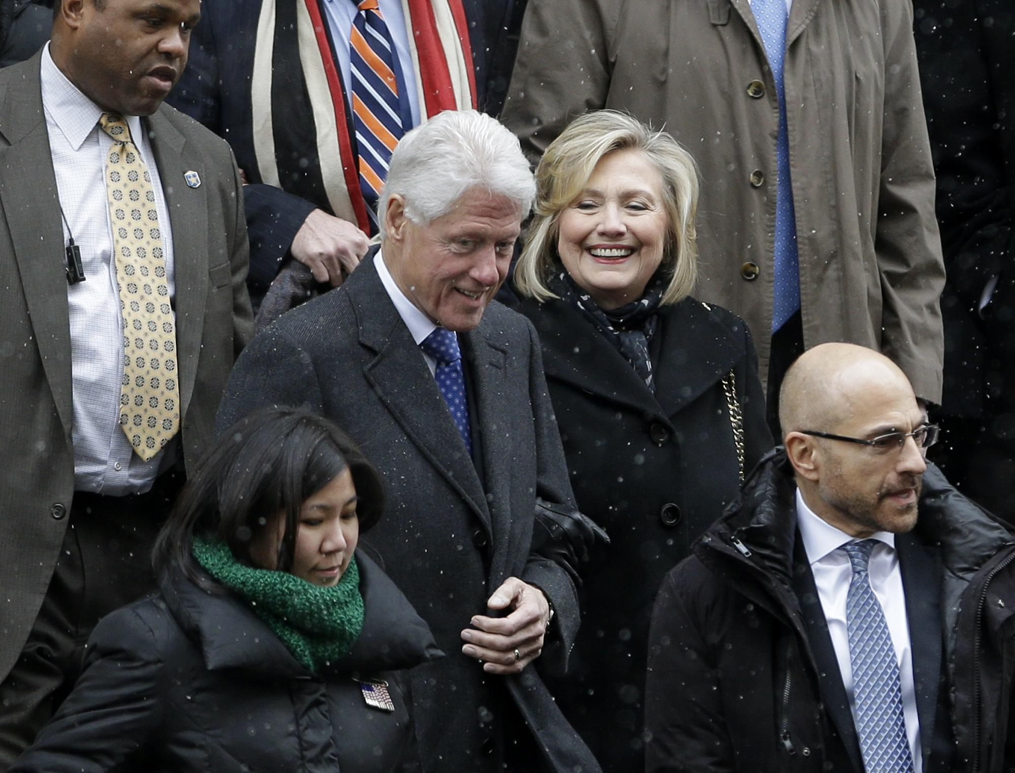 'Sex slave' claims Bill Clinton visited Epstein's 'orgy ...