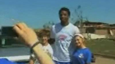 Oklahoma City Thunder Players Tour Moore