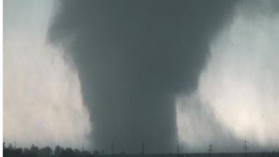 Raw: Swarm of Tornadoes Slams Plains