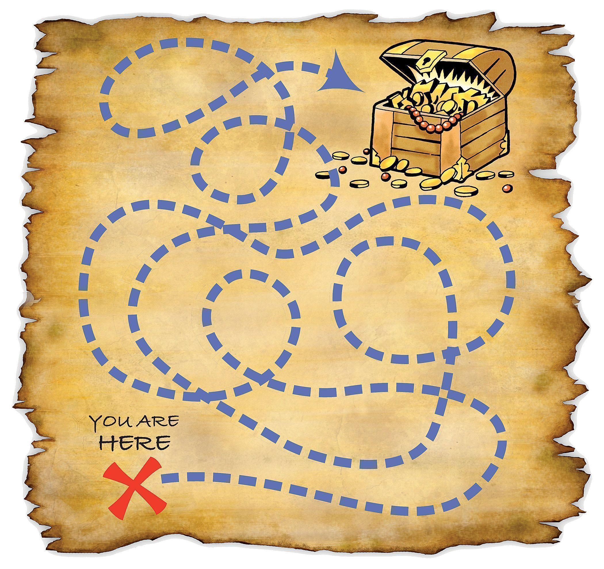 Free Blank Treasure Map Template