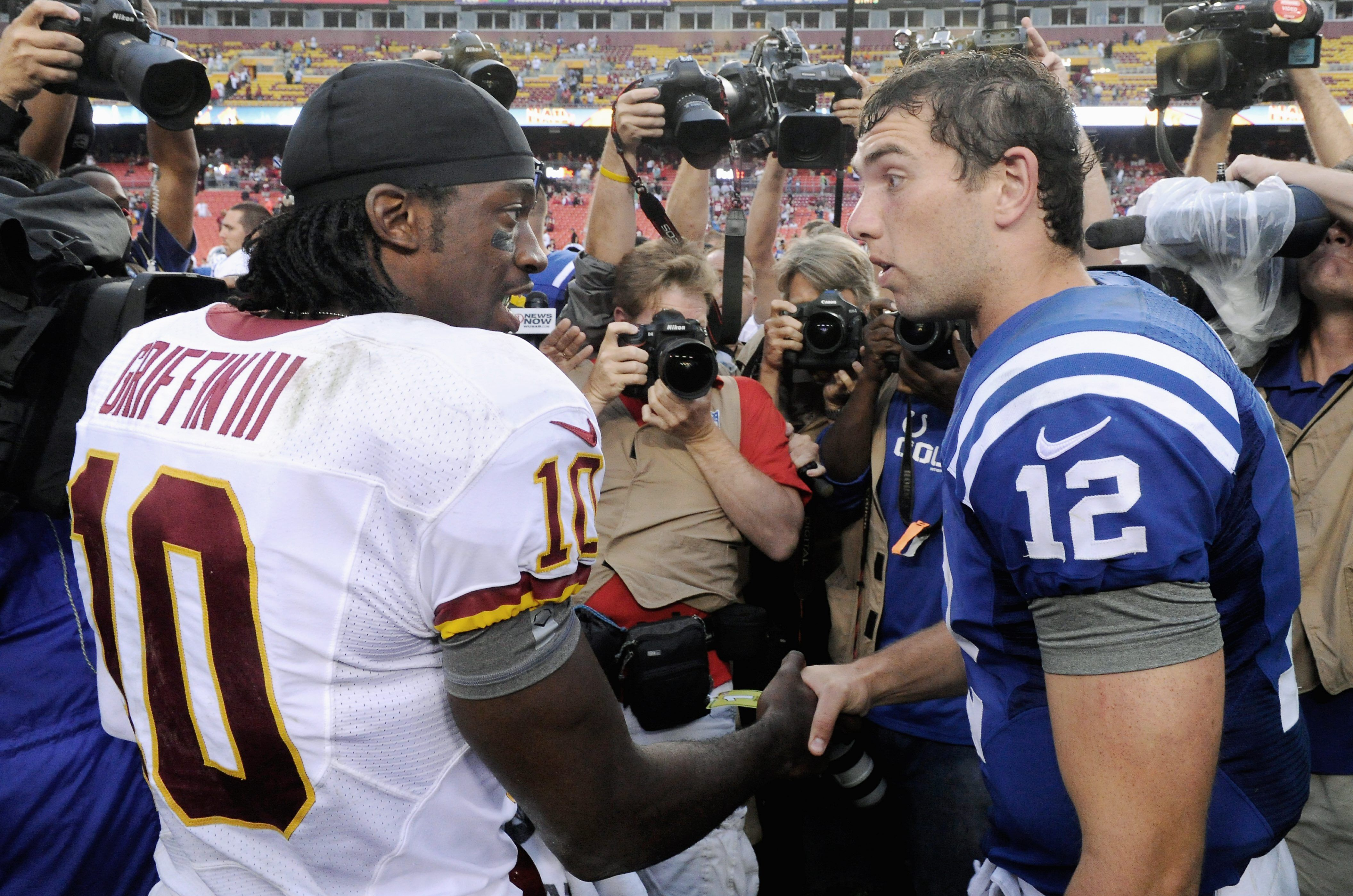 Robert Griffin III reacts to Andrew Luck's shocking retirement