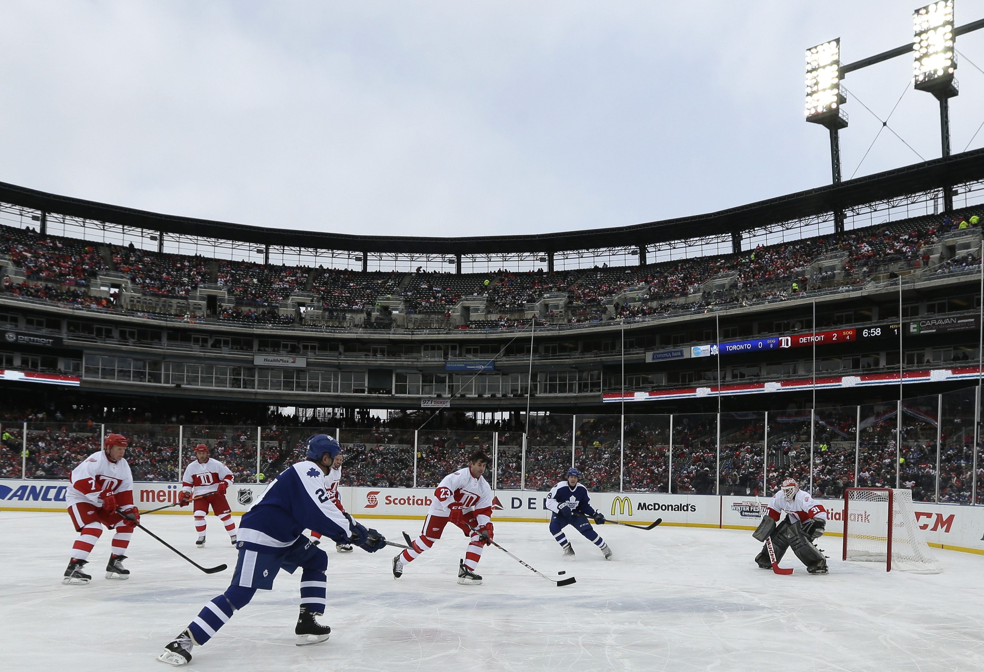 9cea4d8a9db Red Wings alumni sweep Maple Leafs at Comerica Park - Washington Times
