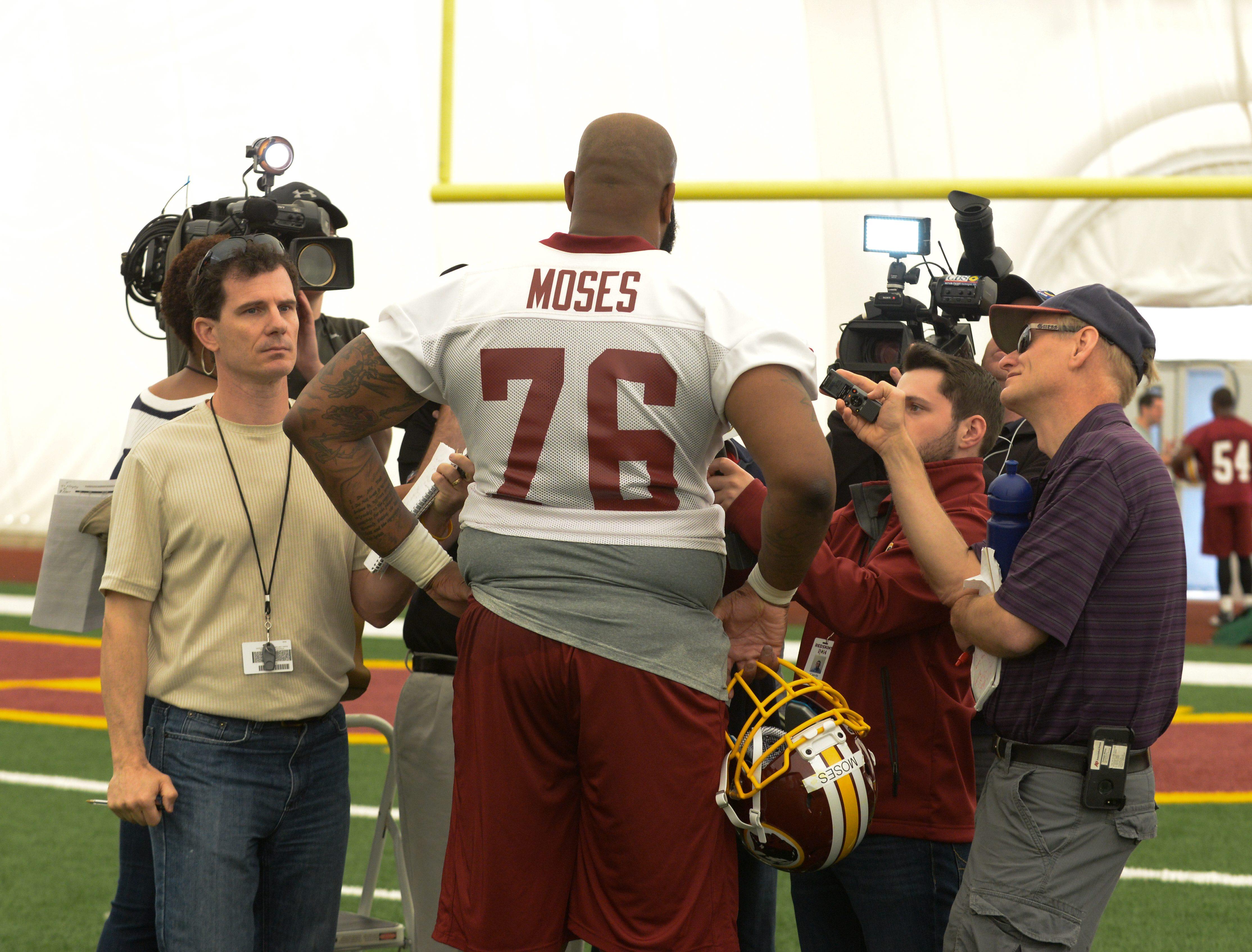 Redskins rookie Morgan Moses uses off field adversity as