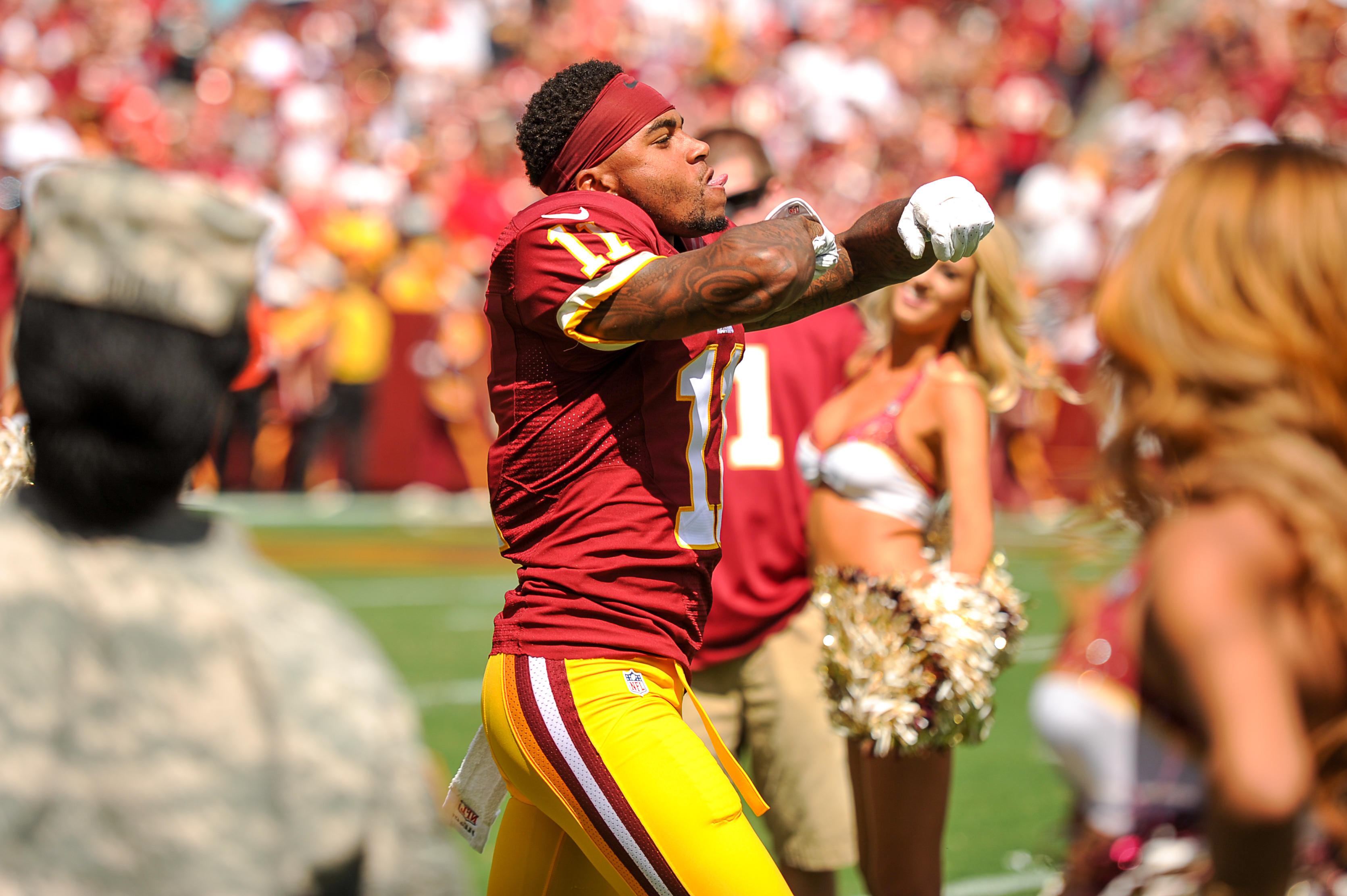 DeSean Jackson Burgundy and gold are my colors now Washington
