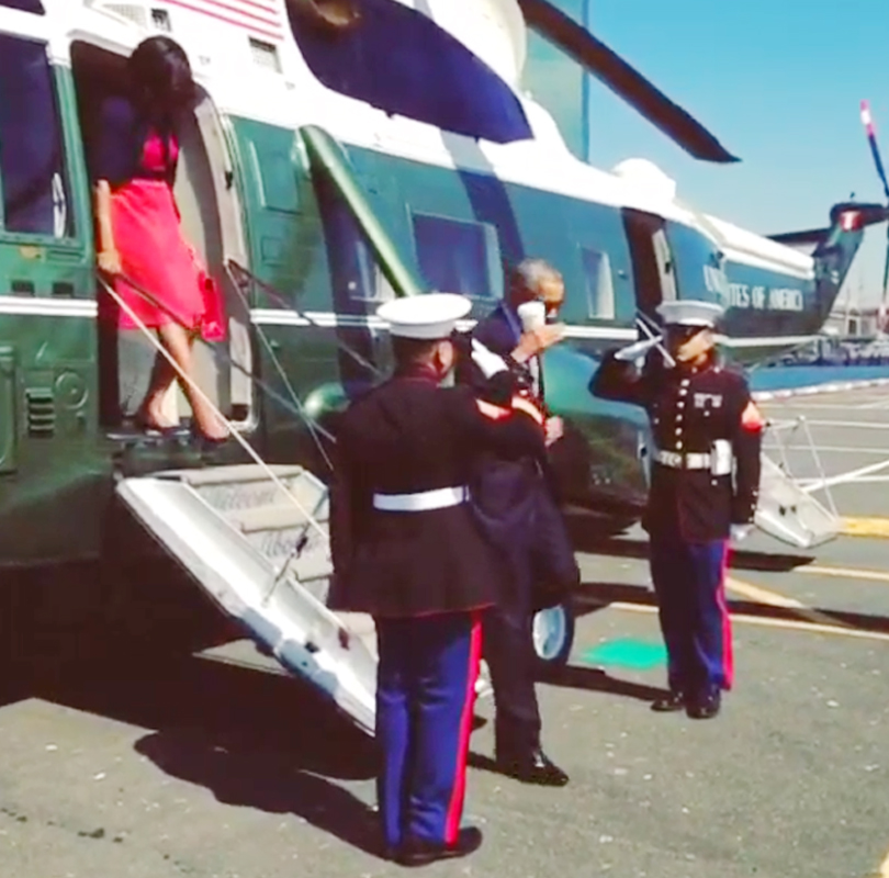 Obama Salutes Marines With Coffee Cup Washington Times
