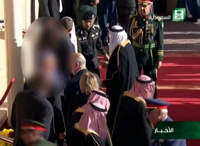 Michelle Obama's face blurred by Saudi state television, although claim disputed