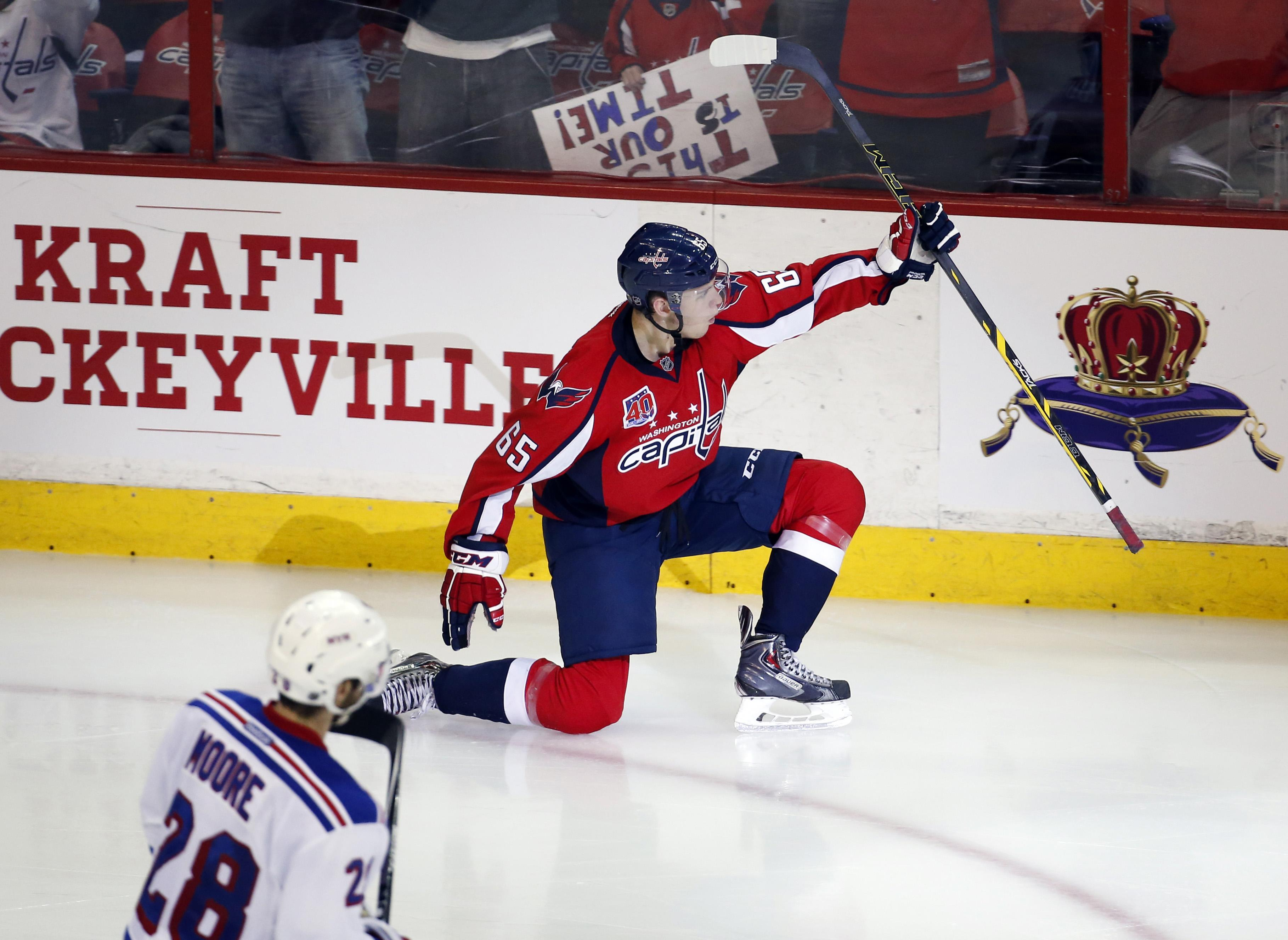 74ca70fc182 Rookie Andre Burakovsky dazzles in Capitals  victory over Rangers -  Washington Times