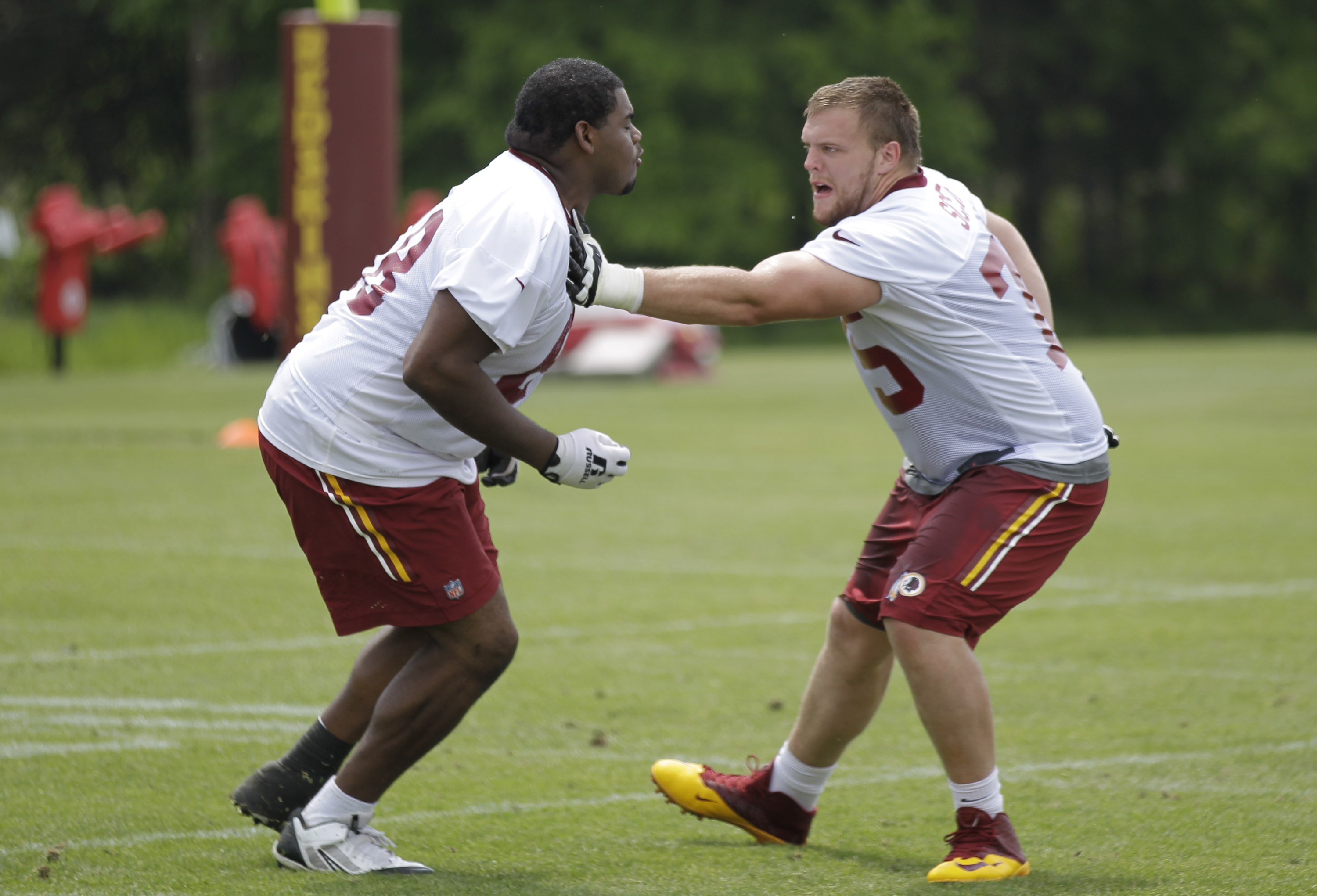 Brandon Scherff other Redskins rookies to work during weekend