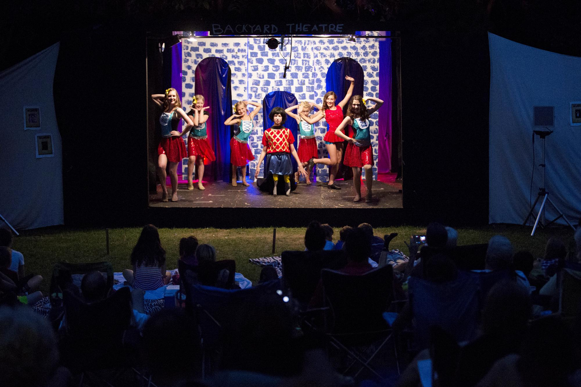 13 year old theater impresario pulls off backyard production