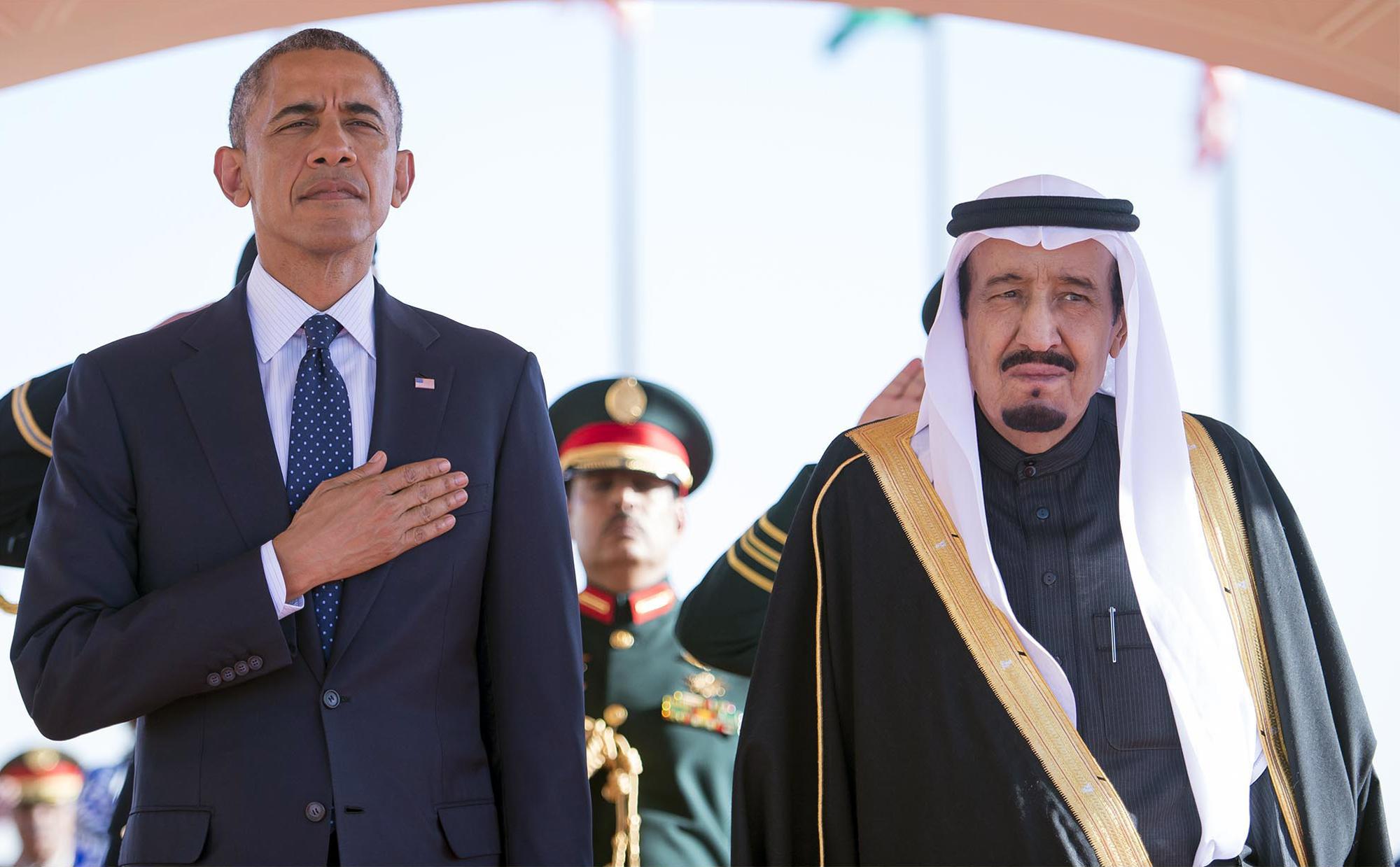 Founding King Abdulaziz Al-Saud and J. Kennedy 55