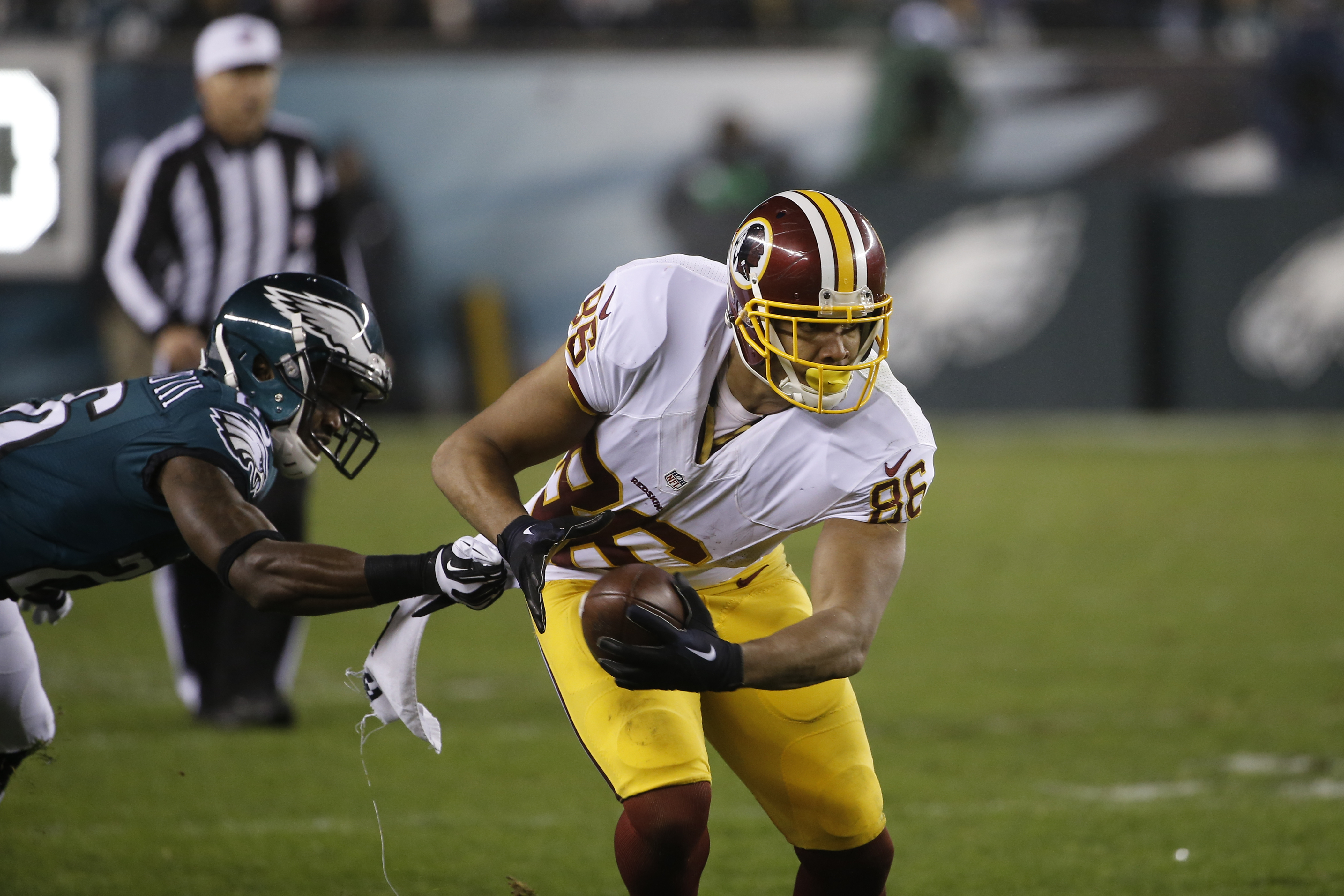 new arrival 2e1be d65eb Jordan Reed delivers two touchdowns, sets Redskins records ...