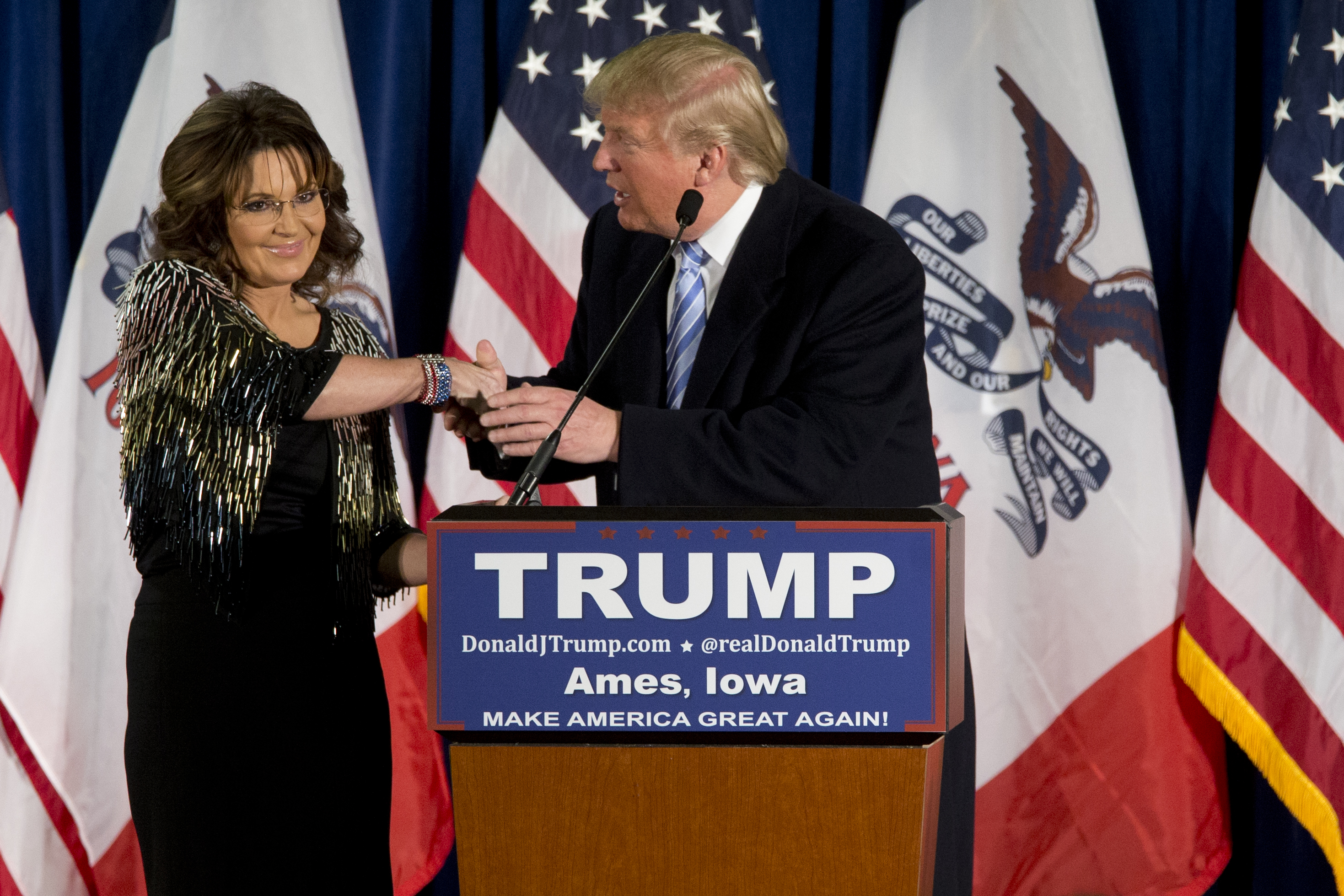 Image result for palin endorses trump