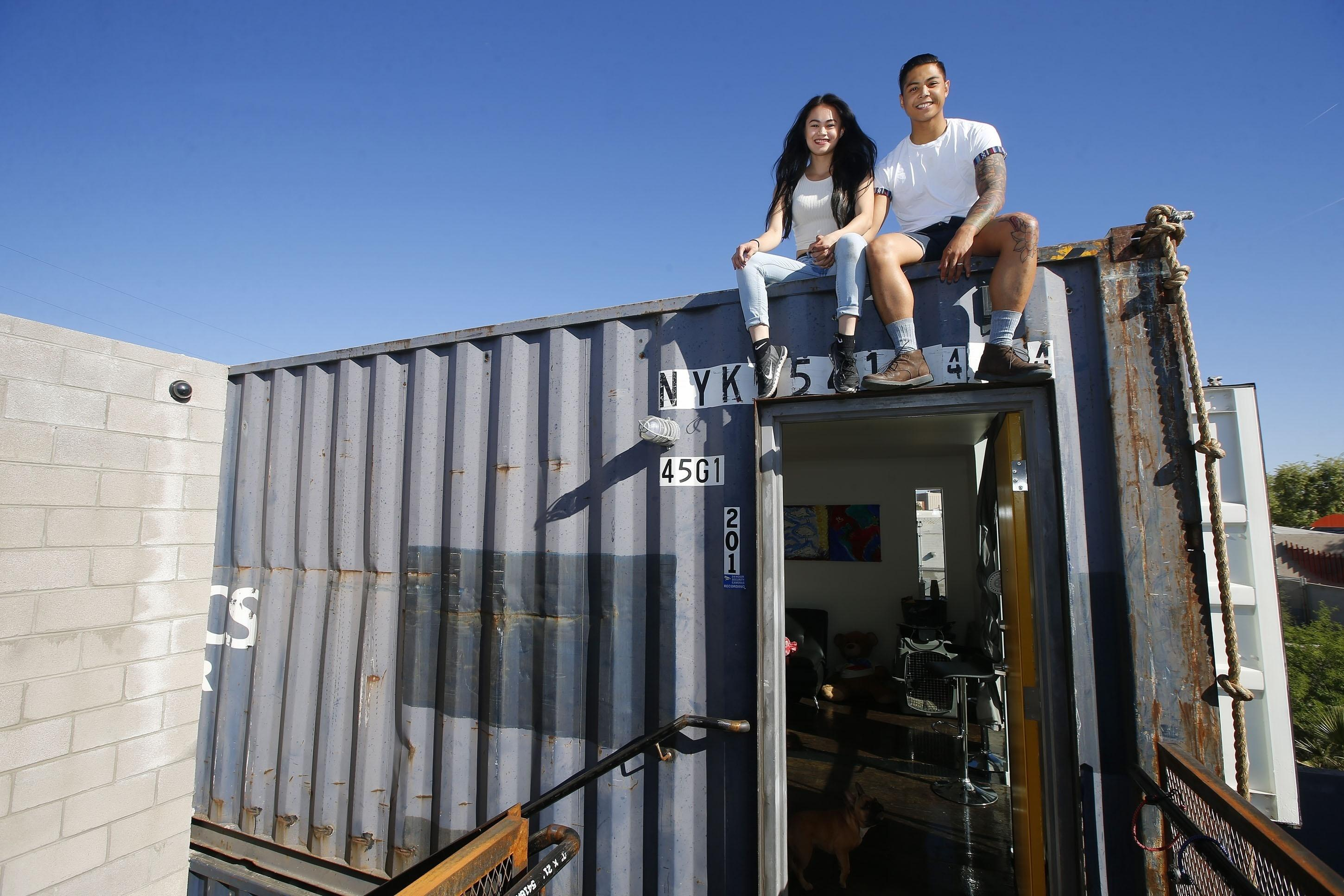 shipping containers offer welcome homes in phoenix - washington times