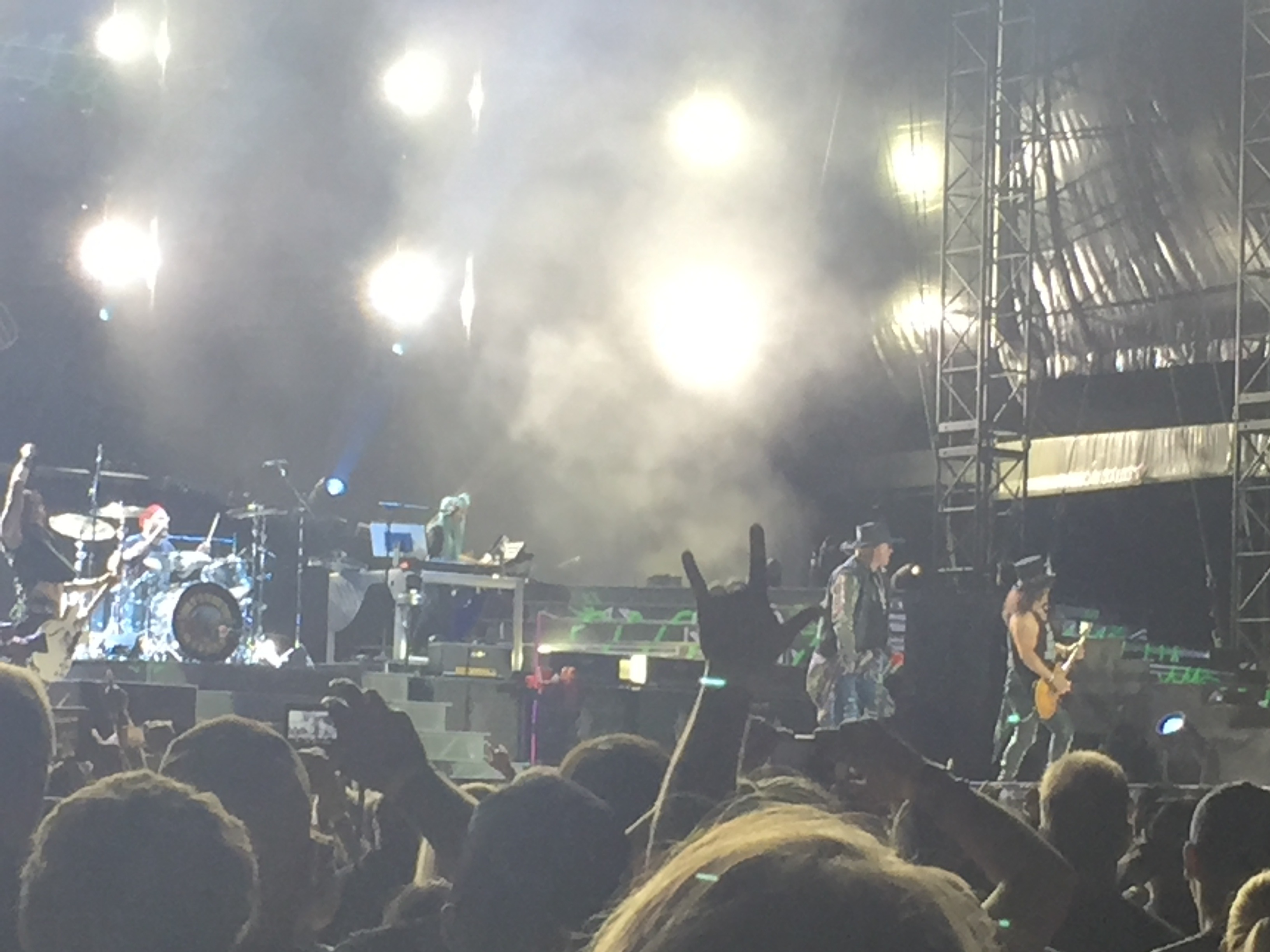 Guns N Roses Concert Review Reunited Band Rocks Not In This
