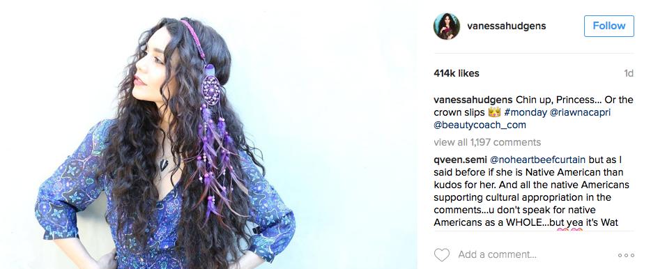 Share your Vanessa hudgens native american variant