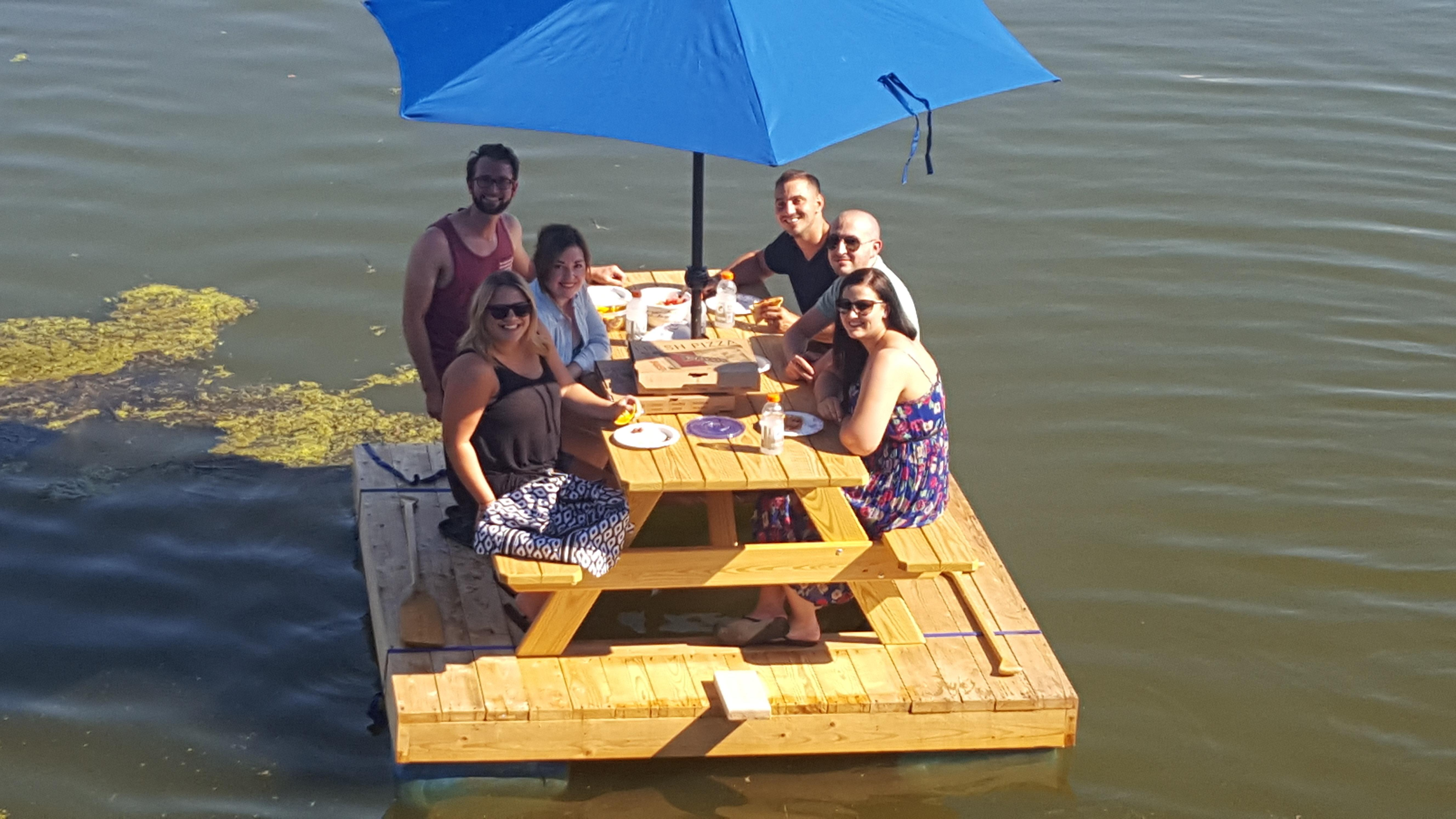 Lancaster County Couple Creates Picnic Boat Washington Times - Picnic table raft