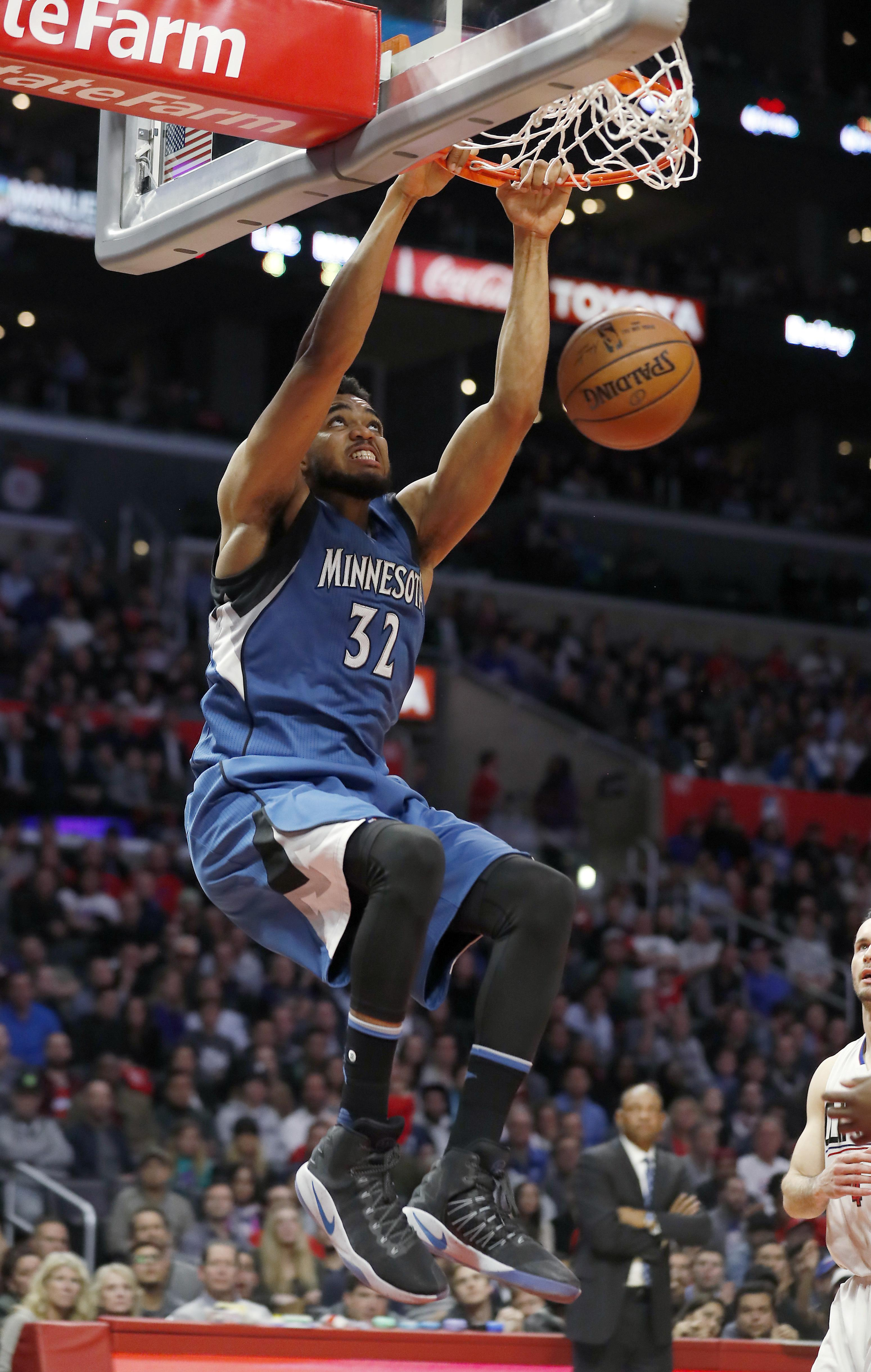 Towns Leads Timberwolves Past Injury Depleted Clippers