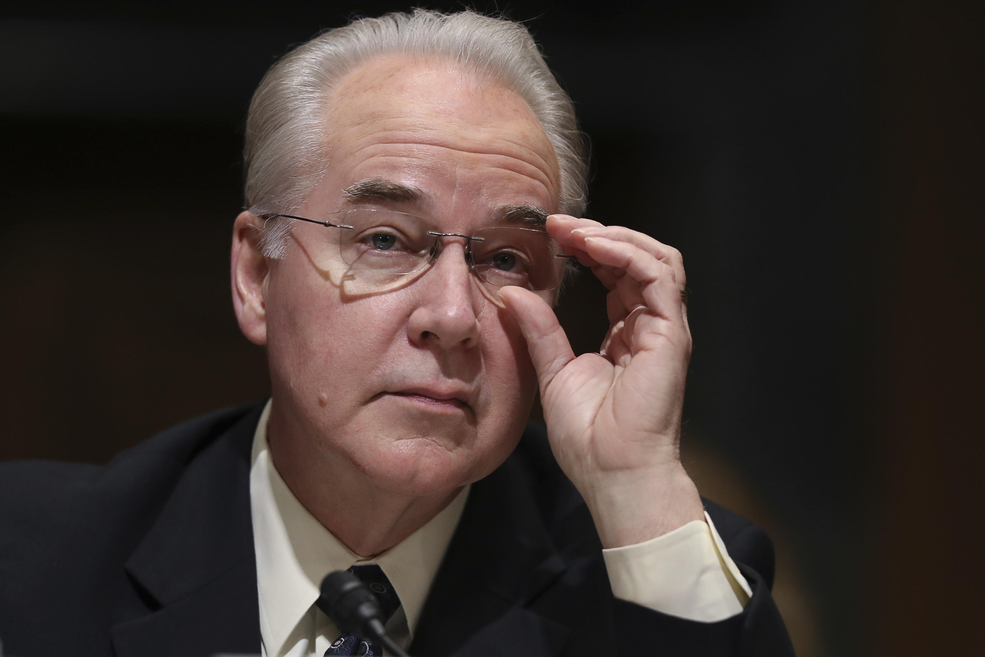 Tom Price nears Senate confirmation as Donald Trump's health ...