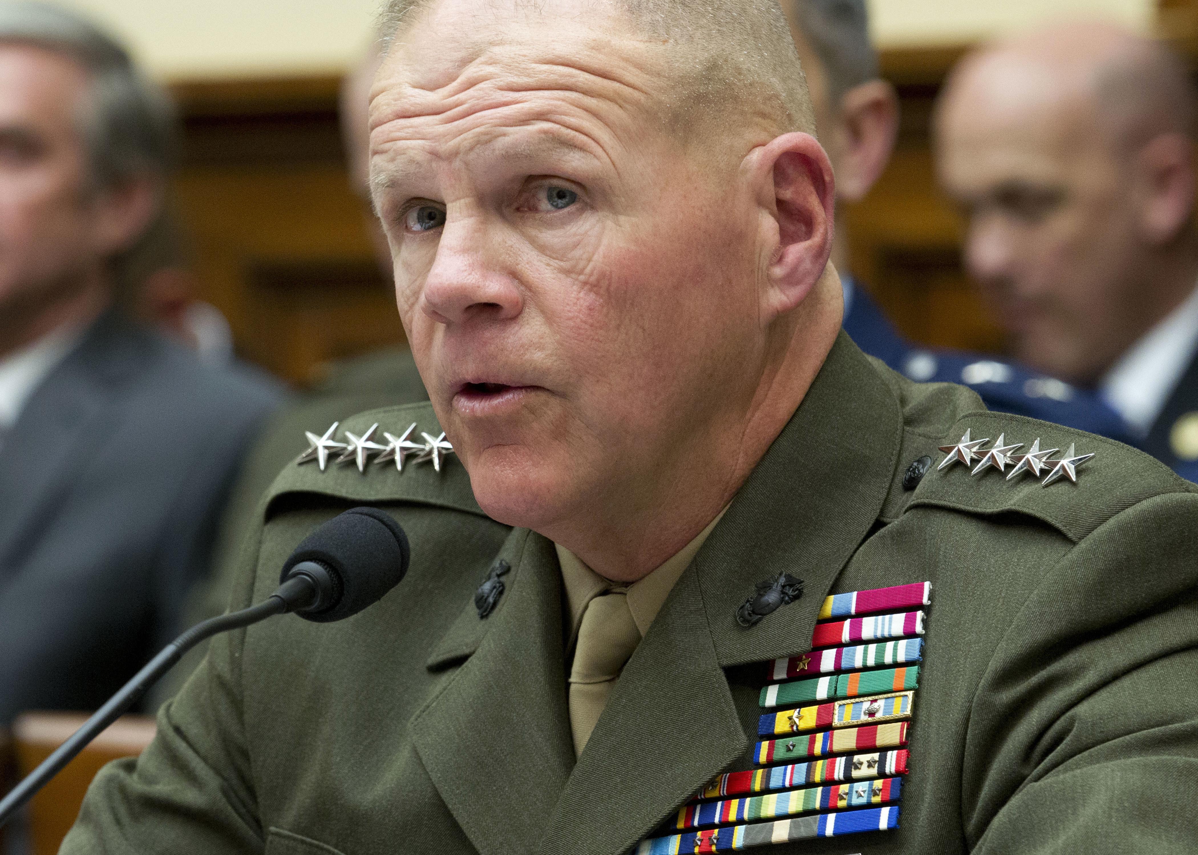 Top Marine says Trump's border focus hurting military's combat readiness
