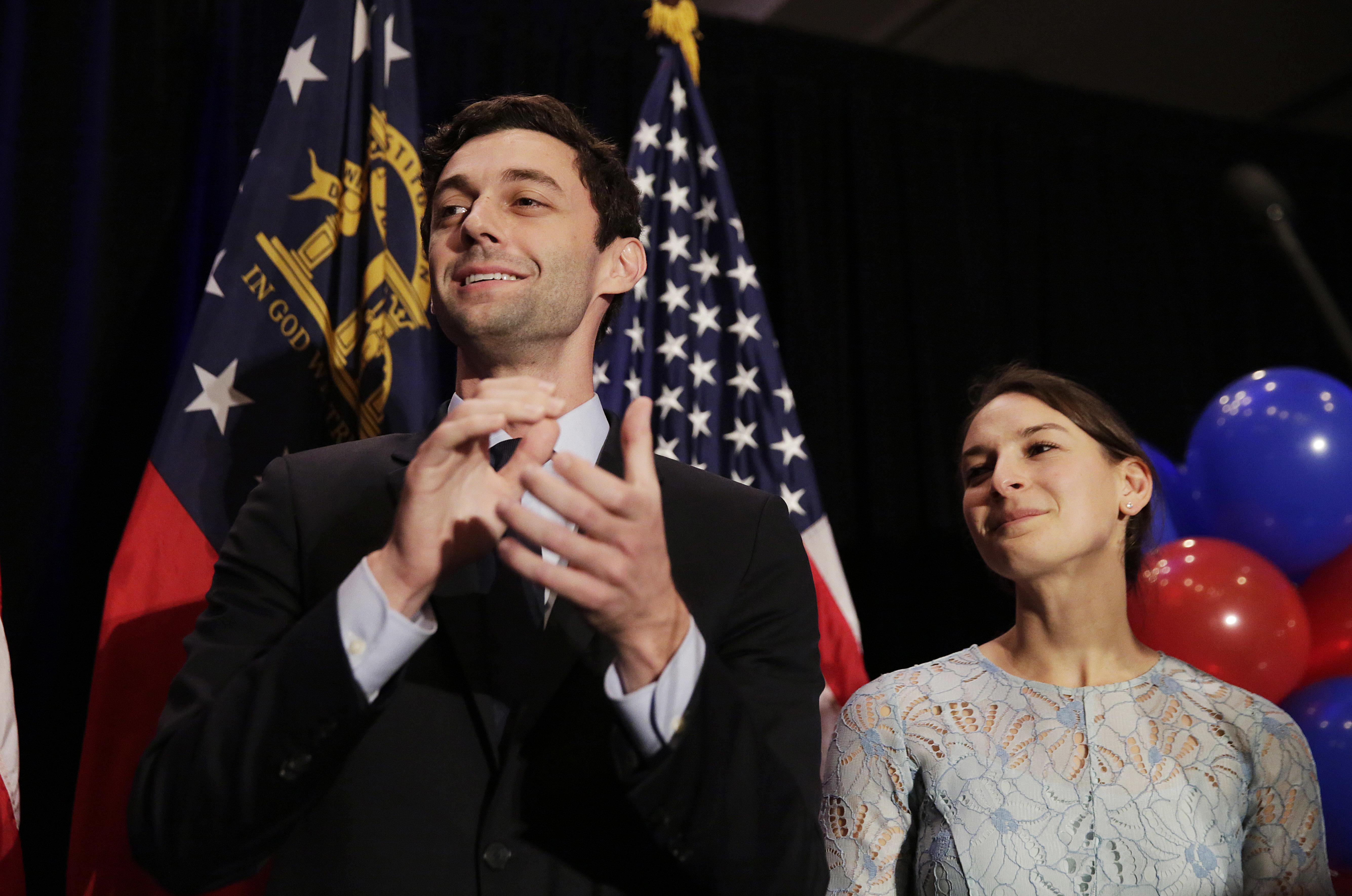 Jon Ossoff, Dem, seeks to unseat David Perdue, Republican, in Georgia