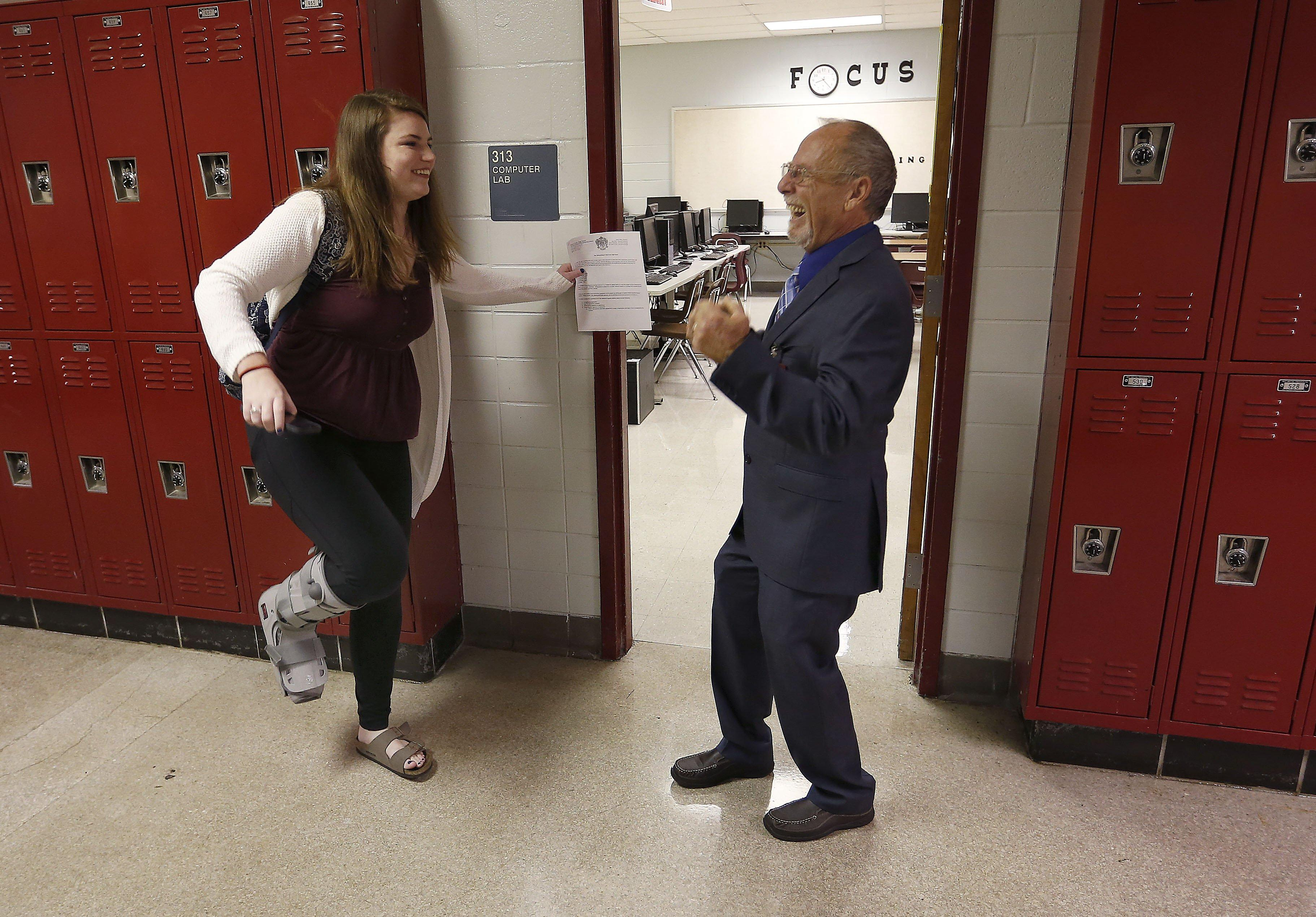A high school dropout goes from custodian to teacher