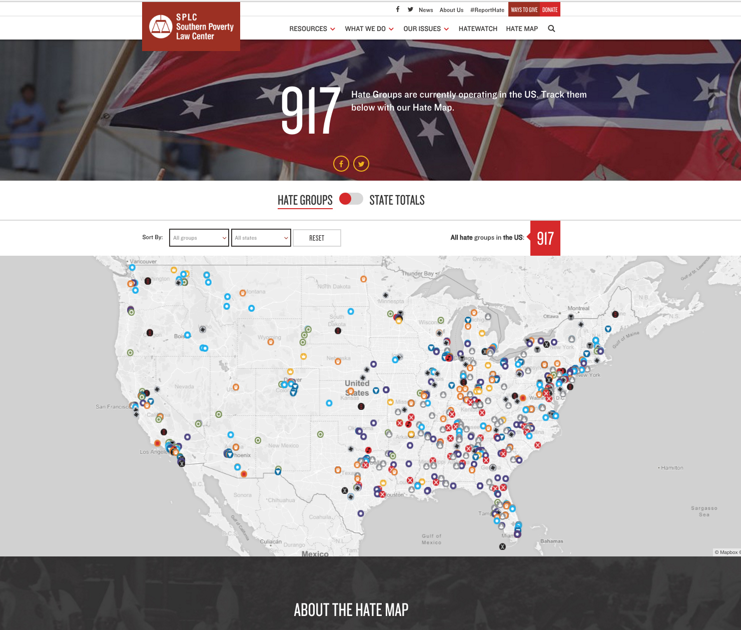 Southern Poverty Law Hate Map Listing Costly To Ruth Institute - Map of hate groups in us