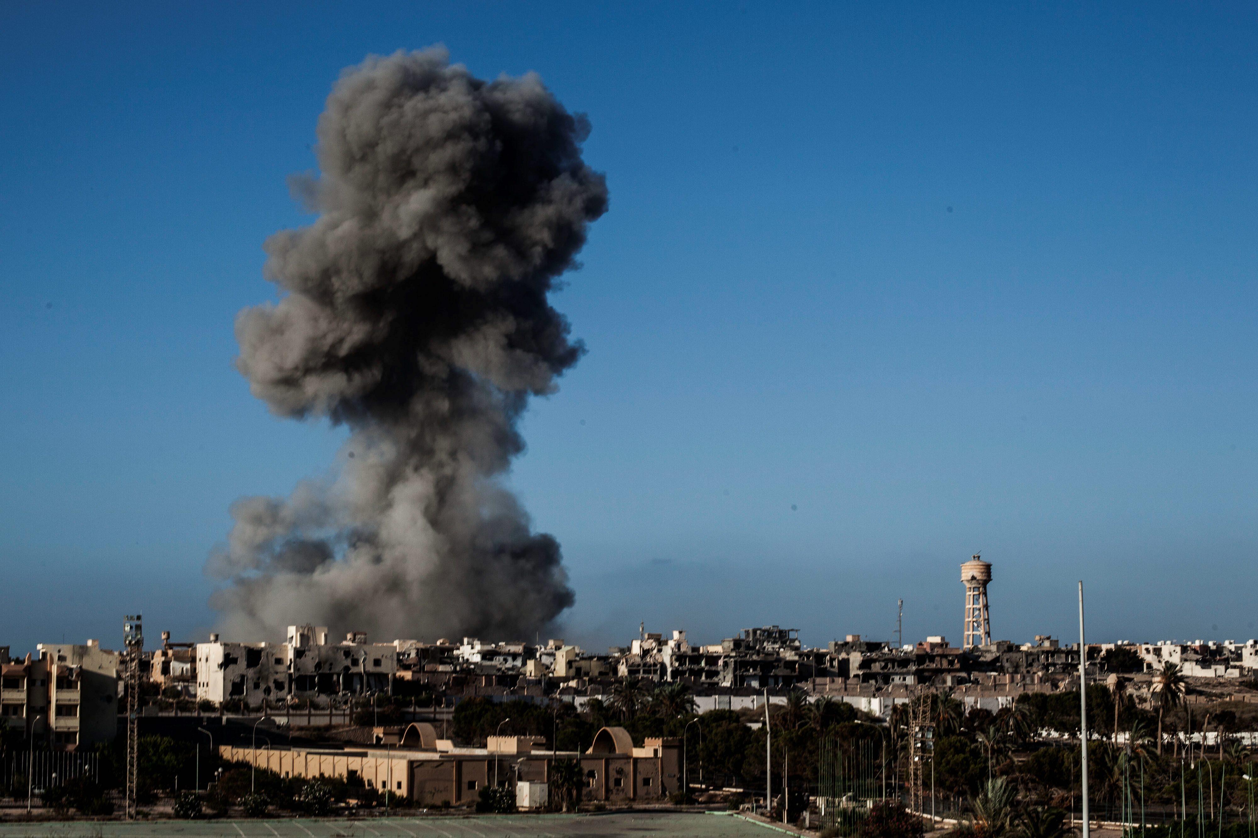ISIS draws battle to Libya; U.S. military responds